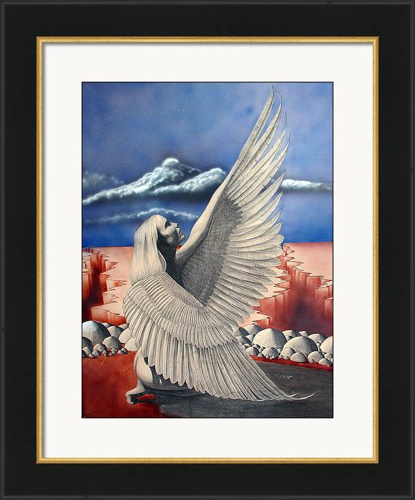 Image of Angel Framed Archival Paper Print 18 x 24 inches