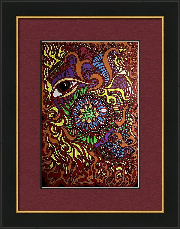 Image of Eyes of Fire Framed Archival Paper Print 16 x 24 inches